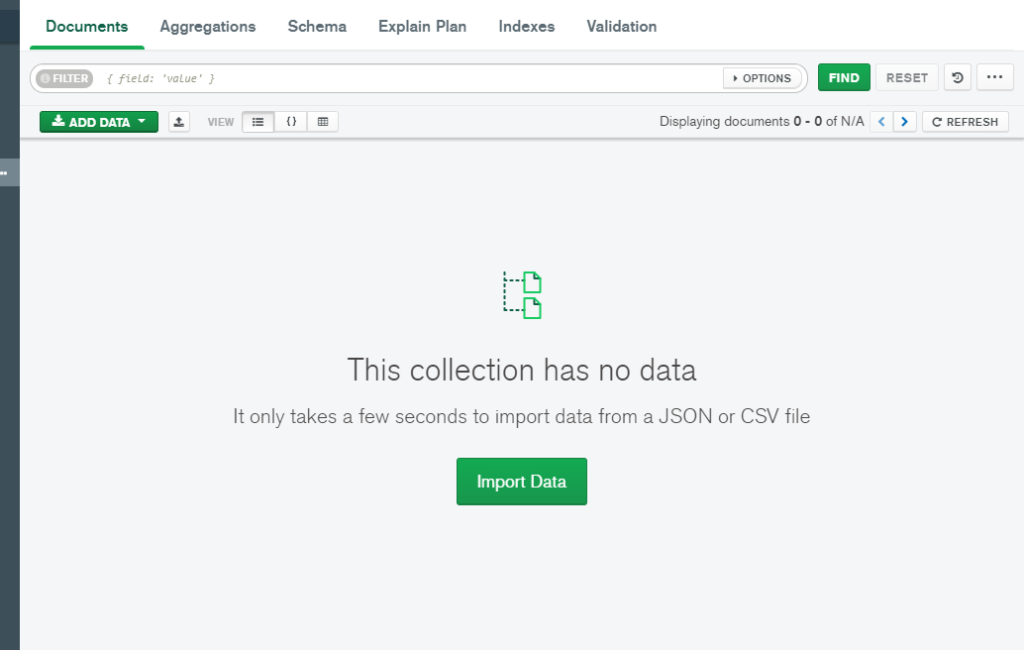 Upload Data in MongoDB Atlas from local computer